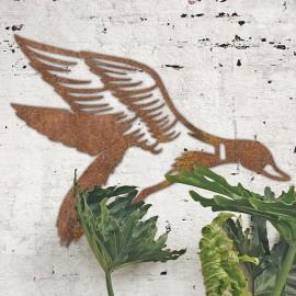 """Mallard"" Duck Wall Art in Situ on a Rustic White Wall"