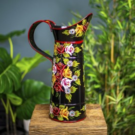 Black Traditional Jug in an Hand Painted Finish
