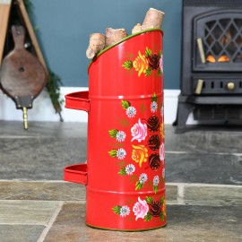 Red 'Rosalie' Coal Hod with Double Handle