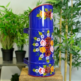 """""""Rosalie"""" Coal Hod with Double Handle Finished in Blue"""