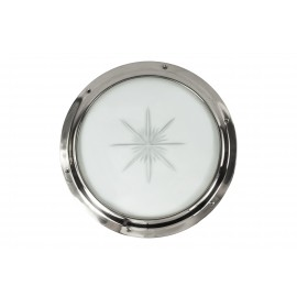 Bright Chrome Port Hole Kit With Star Glass