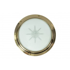 Solid Brass Porthole Kit with Star glass
