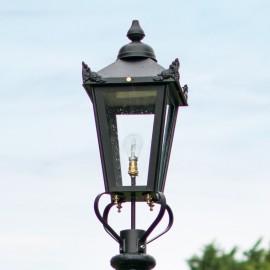 Medium Black Victorian Lamp Post Top