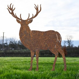 Rustic Large Stag Silhouette