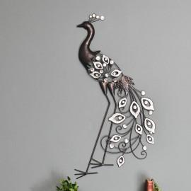 Taos Pride Wrought Iron Peacock Wall Art