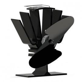Mini Eco Wood Stove Fan in Black