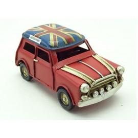 Vintage Mini Cooper Union Jack Replica Ornament