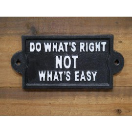Philosophical Iron Sign in Black