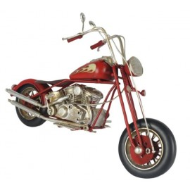 Red Chopper Motorcycle Replica Ornament