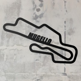 Mugello Race Track Wall Art on a Rustic Grey Wall
