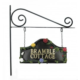 Multi Colour Roses Hand Painted Double Sided House Name Sign