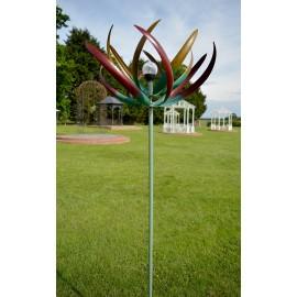 """Tropical Sundew"" Multi-Coloured Flower Wind Dancer"