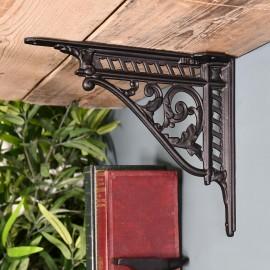 Black Cast Iron Shelf Bracket 31 x 26cm