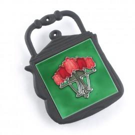 Rennie Mackintosh Red Roses Iron & Ceramic Trivet