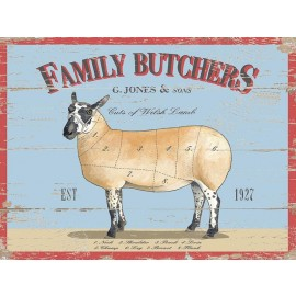 Family Butchers Metal Sign