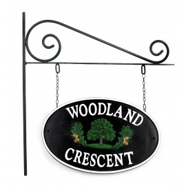 Oakenshore Double sided Cast Iron Effect House Name Sign
