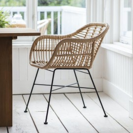 """Pair of Polyethylene """"Bamboo"""" Dining Chairs in Situ"""