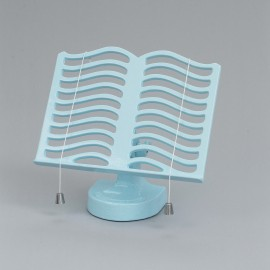 Cast Iron Cook Book Stand - Baby Blue