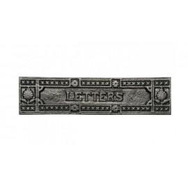 Patterened Black Iron Letter Plate
