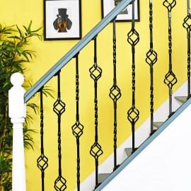 """Cavendish"" Set of 2 Alternating Stair Spindles - Pattern 3"