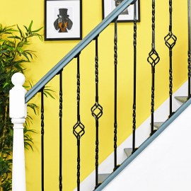 """Cavendish"" Set of 4 Alternating Stair Spindles - Pattern 4"