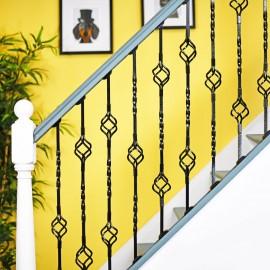 """Cavendish"" Set of 3 Alternating Stair Spindles - Pattern 5"