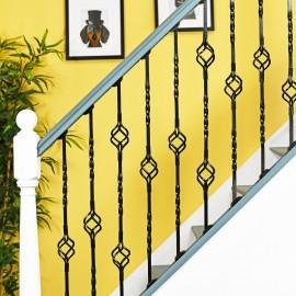 """Cavendish"" Set of 3 Alternating Stair Spindles - Pattern 7"
