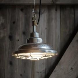 Galvanised Steel Industrial Style Outdoor Pendant Light