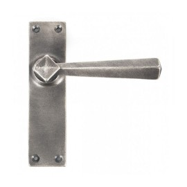 """""""Adria"""" Straight Lever Latch Set Finished In Antique Pewter"""