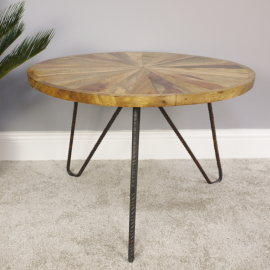 Iron Pin Legged Coffee Table in Use in the Home