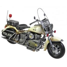 Vintage Police Motorcycle Replica Ornament