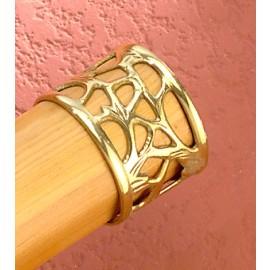 Polished Brass Ornate Handrail End Cap