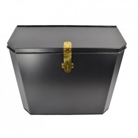 """""""Billingsgate"""" Large Secure Parcel Box with Polished Brass Clasp"""