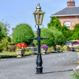 Miniature Copper Victorian Lam Post in Situ on a Drive Way