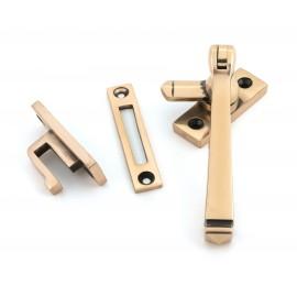 Polished Copper Locking Casement Window Fastener