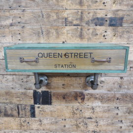 """Front View of the """"Queen Street Station"""" Industrial Wall Cabinet"""