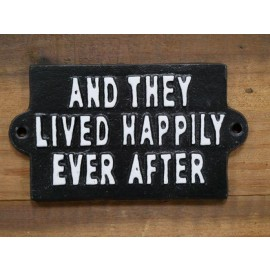 """Quirky """"Ever After"""" Iron Sign in Black"""