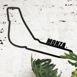 Monza Race Track Wall Art on the Wall Next to Plants