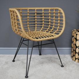 Rattan & Iron Scoop Chair in Situ