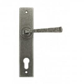 Lever Espagnolette Lock Set Unsprung Pewter