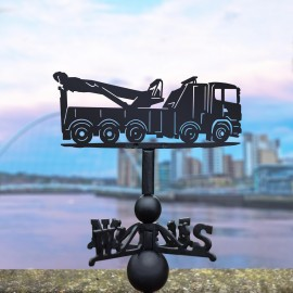 Recovery Truck Weathervane in Situ in the City