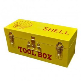 """Rectangular """"Shell"""" Tool Box Finished in Yellow"""