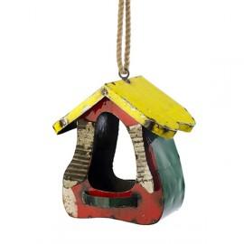 Recycled Metal Hanging Bird House