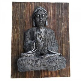 Buddha Sculpture Created From Recycled Nuts