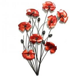 Poppy Wall Art in Red
