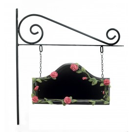 Red Rose Hand Painted Double Sided House Name Sign