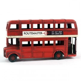 Red Routemaster Double Decker London Bus Scale Model