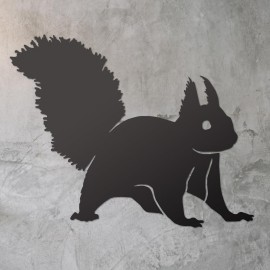 Red Squirrel Wall Art on a Rustic Grey Wall