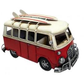 Red Camper Van Replica Ornament