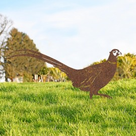 Rustic Ring-necked Pheasant Silhouette